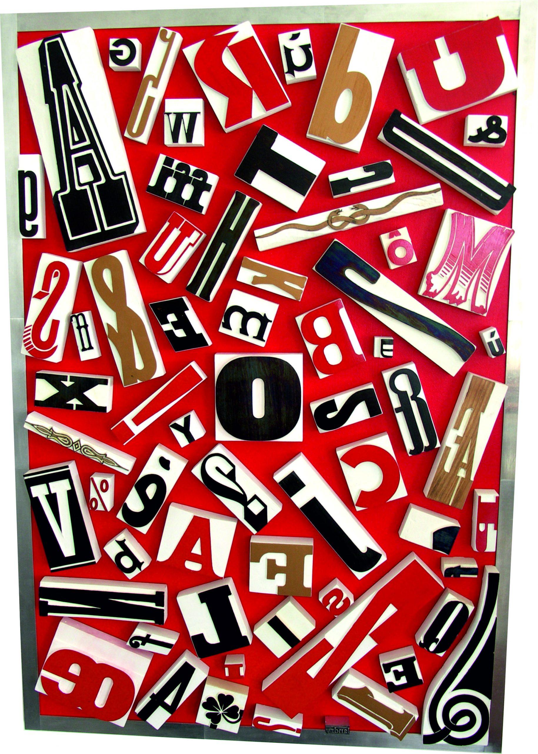 lettres colorées d'encre